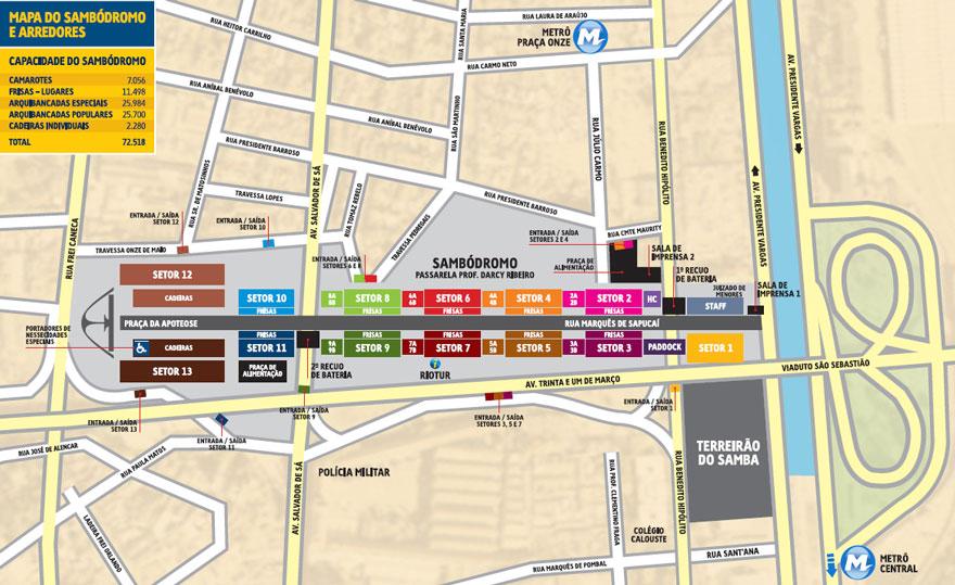Sambadrome Map